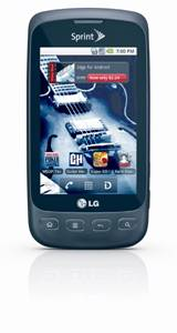 Sprint 2 ID LG Optimus S with Android 2.2 on 10/31