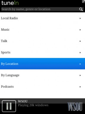 wireless and mobile news | new blackberry app: tunein