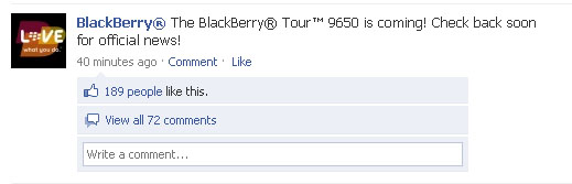 BlackBerry Tour2 Release Delayed, Called BlackBerry Bold 9650?