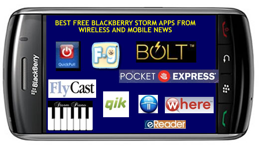Best Free BlackBerry Storm Apps for BlackBerry Storm This Month