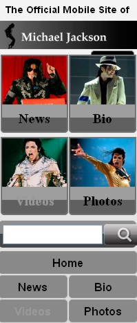 Android, BlackBerry, iPhone, Pre Mobile Web 2Day: Michael Jackson Mobile