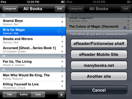 BlackBerry (Storm) Free App of the Day: eReader Pro