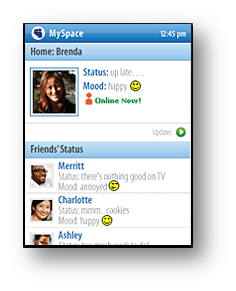 MySpace on Windows Mobile Phones via Silverlight