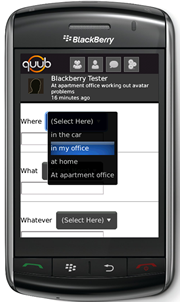 BlackBerry (Storm) Free App of the Day: quub (cube) Instant Updater Beta