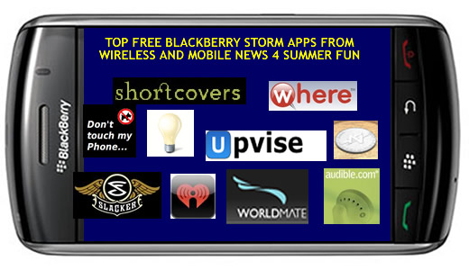 Top Ten Best Summer Fun Free BlackBerry Storm Apps 2Day