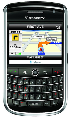BlackBerry Tour Apps 2Day:  TeleNav GPS Navigator