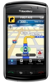 BlackBerry Storm TeleNav Location Mapping and Traffic App