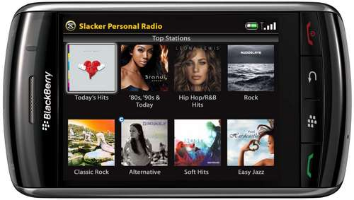 BlackBerry Storm Free App of the Day: Slacker Radio for BlackBerry Storm