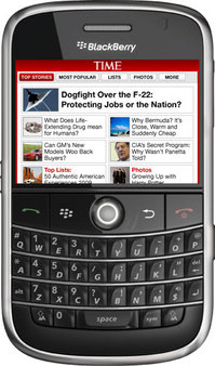 Free BlackBerry (Storm / Tour / Curve) Apps 2Day: TIME (Magazine)