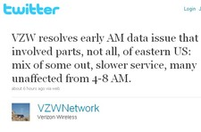Verizon Morning East Coast Data Outage   Over and Out