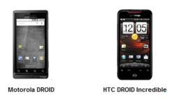 Droid an Droid Incredible Top Android Smartphones, BlackBerry OS 2nd, Says NPD