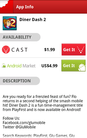Chomp Search Chomps V CAST & Android Market for Lowest Cost Apps