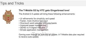 HTC Update News: Gingerbread 2.3 Update For T Mobile G2 but Desired Desire Update Impossible