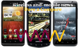 Dare 2 Compare: LG Revolution vs Droid Charge vs HTC ThunderBolt (Verizon Awesome 4G Threesome)