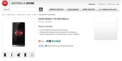 Droid Bionic News: Official Droid Bionic Release Date 9/8? Webtop Accessories & Webstore