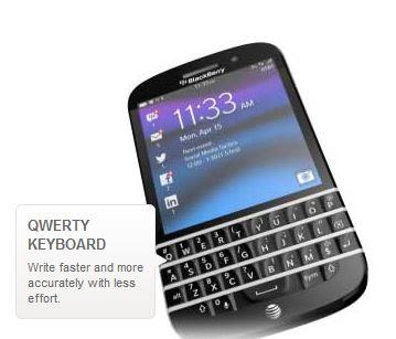 BlackBerry Q10 AT&T